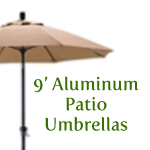 9 foot aluminum market umbrellas